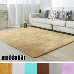 160*80cm Anti-Skid Shaggy Area Rug Dining Room Home Bedroom