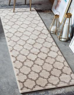 2' X 6' Unique Loom Runner Area Rug Trellis Rug Beige Kitche