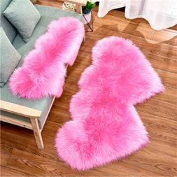 2019 New Creative Double Heart Imitation Wool Carpet Sofa Cu