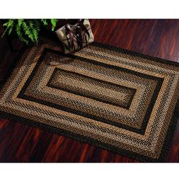"""IHF Home Decor 22"""" x 72"""" Black Forest Rectangle Jute Braided"""