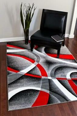2305 Gray Area Rug Modern Contemporary Abstract Carpet