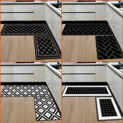 2PCS Home Kitchen Floor Mat Non Slip Runner Anti Fatigue Rug
