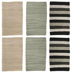 "2pk Chindi Rug 20x32"" Rag Rug Set Washable Rugs for Living"
