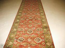 2x8  Runner Traditional Oriental Plush Hand Tufted Wool Rust