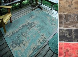 "3'3""X5' Vintage Faded Design, Indoor & Outdoor Area Rug - 11"