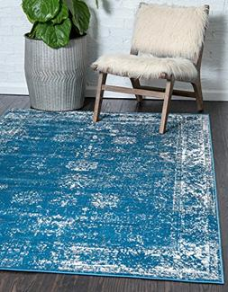 Unique Loom Sofia Collection Blue Area Rug