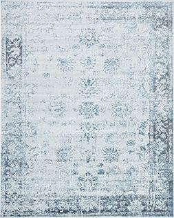 Unique Loom Sofia Collection Light Blue Area Rug