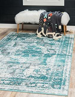 Unique Loom Sofia Collection Turquoise Area Rug