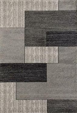 3322 Gray Modern Abstract Area Rug
