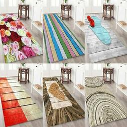 3D Flannel Fabric Area Rug Non-Slip Backing Floor Mat Home K
