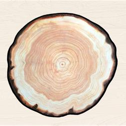 3D wood tree rings round <font><b>rug</b></font> carpet beds