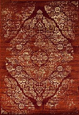 4620 Distressed Burgundy Rust 5x7 Area Rug Carpet Large New