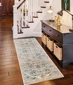 4620 Distressed Cream 2 x 7 Hallway runner Area Rug Carpet