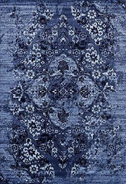 4620 Distressed Denim 5x7 Area Rug Carpet Large New