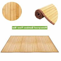 5'x8' Non-sliding Waterproof Floor Mat Natural Bamboo Area R