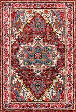 514 Red Bohemian 8 x 10 Area Rug Carpet