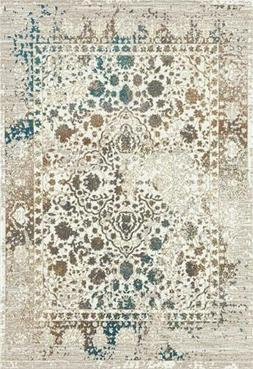 6495 Cream Distressed Oriental Area Rug High Quality Large C