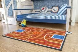 Furnish my Place 690 Rust Basketball Ground Kids Area Rug, 4