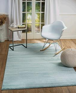 Summit 6U-66H4-JSRX 101 New Turquoise Area Rug Modern Abstra