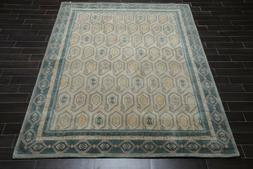 8' x 10' Handmade 100% Wool Transitional Oriental Area Rug 8