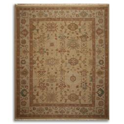 8' x 10' Nourison Nourmak hand knotted reversible100% wool P