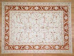 """8'x10'10"""" On Clearance White Wash Peshawar Hand-Knotted Pure"""