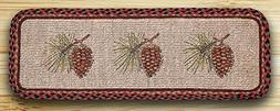 """Earth Rugs 87-081P Pinecone Wicker Weave Table Runner, 13"""" x"""