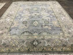 8x10 GRAY BLUE WOOL RUG HAND KNOTTED ORIENTAL OUSHAK rugs mo