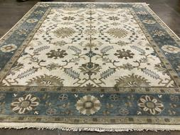 8x10 HAND KNOTTED WOOL RUG USHAK muted carpet neutral all ov