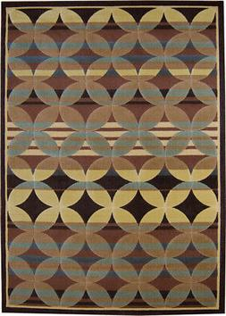 8x10 Home Dynamix Brown Geometric Dots Area Rug 4480-530 - A