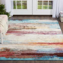 8x10 Home Dynamix Multi-Color Striped Banded Area Rug 036A -