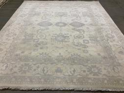 8x10 MUTED NEUTRAL WOOL RUG NEW HAND KNOTTED OUSHAK WOOL per