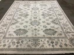 8x10 NEUTRAL WOOL RUG HAND KNOTTED NEW ORIENTAL muted handma