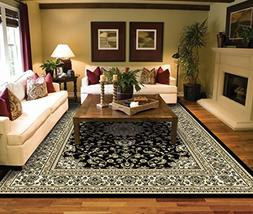 Large Rugs for Living Room Black Traditional Oriental Medall