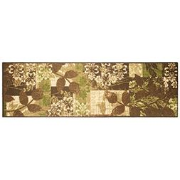Modern Living Leaves Decorative Area Accent Rug, 20 by 60-In