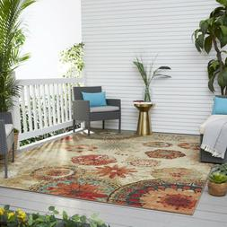 Mohawk Home Alexa Medallion Indoor/ Outdoor Printed Area Rug