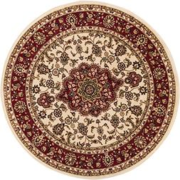Noble Medallion Ivory Persian Floral Oriental Formal Traditi