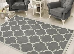 Sweet Home Stores Clifton Collection Light Grey Moroccan Tre