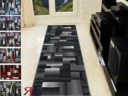 Abstract Geometric Modern Square Pattern Area Rug For Bedroo