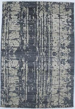 Abstract Hand-Knotted Modern 4X6 New Oriental Home Décor Ar