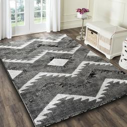 Area rug Nwprt #79 Abstract light dark gray soft pile size 2