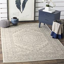Adirondack Ivory and Silver Area Rug, 6' x 9'