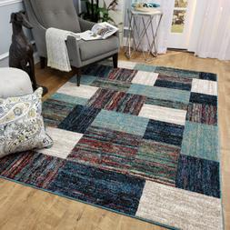 Maxy Home Aiza Modern New Trend Teal Bricks Bohemian Area Ru