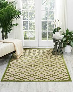 Nourison Aloha  Green Rectangle Area Rug, 7-Feet 10-Inches b
