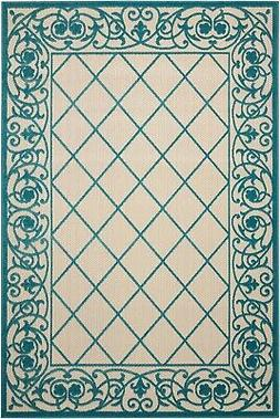Nourison Aloha ALH16 Aqua Indoor/Outdoor Area Rug