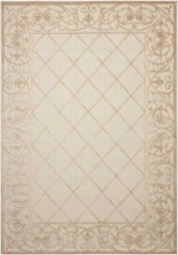 Nourison Aloha ALH16 Cream Indoor/Outdoor Area Rug