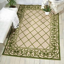 Nourison Aloha ALH16 Green Indoor/Outdoor Area Rug 5 feet 3