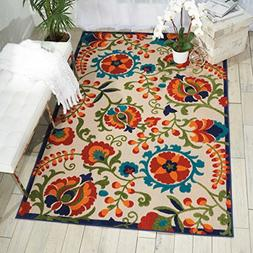 Nourison Aloha ALH17 Multicolor Indoor/Outdoor Area Rug 7 Fe