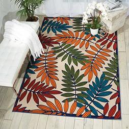 Nourison Aloha ALH18 Multicolor Indoor/Outdoor Area Rug 5 fe