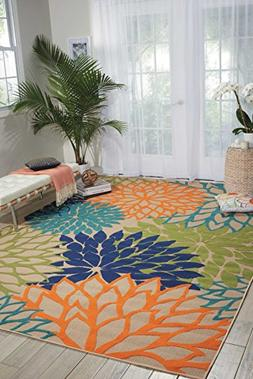 Aloha Cream Indoor/Outdoor Area Rug, 5'3 x 7'5